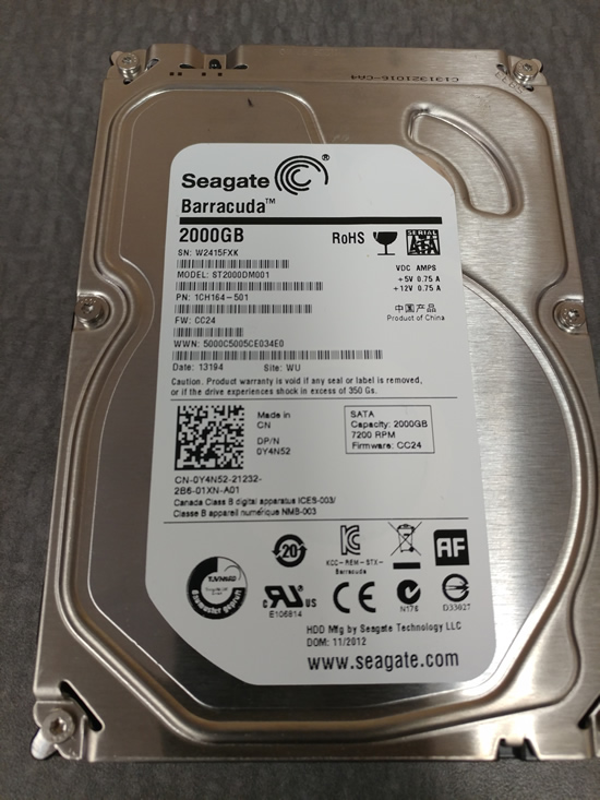 Seagate ST2000DM001 Hard Drive Data Recovery